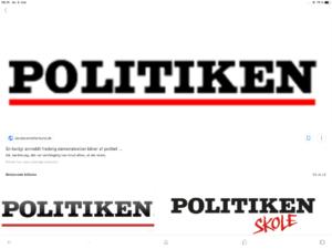 Politiken forside